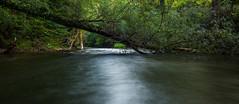 Fluss langzeitbelichtet. Wasser in Bewegung