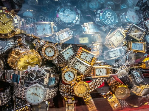 Pile of Cheap Watches on Display