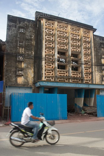 Old cinema house in Kampot, the Makara 7, under conversion
