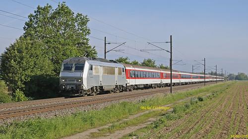 BB 26004 Train 29825 Lourdes-Kosice à Habsheim