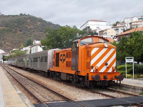 1415 at Pinhão with special train 20821 from Porto Campanhã on Saturday 21st September 2019