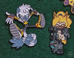 Whisper and Tangle pins