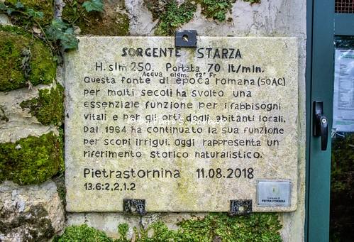 Starza di Pietrastornina (AV), 2019, La sorgente Starza o, meglio, della Starza.