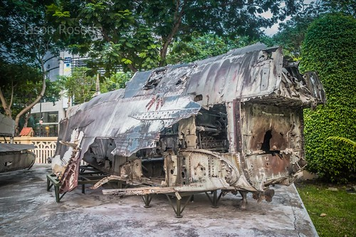 Remains of a B52, Ho Chi Minh City, Vietnam