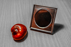 Photo frame and conker-edited