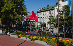 Old Quebec City Street with Flower