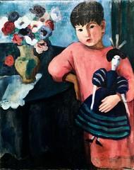 Girl with a rag doll (c.1930) - Sarah Affonso (1899-1983)