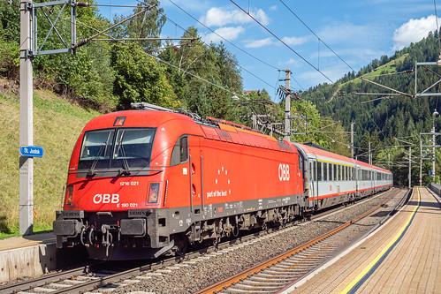 ÖBB Italia -  Eurocity 80 by Bhf Sankt Jodok - Austria