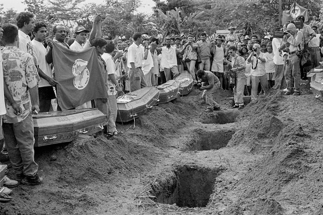 Em Eldorado do Carajás (PA), em 1996, foram 19 mortes e mais de 60 feridos, mas 142 policiais que participaram do massacre foram absolvidos - Créditos: Anistia Internacional
