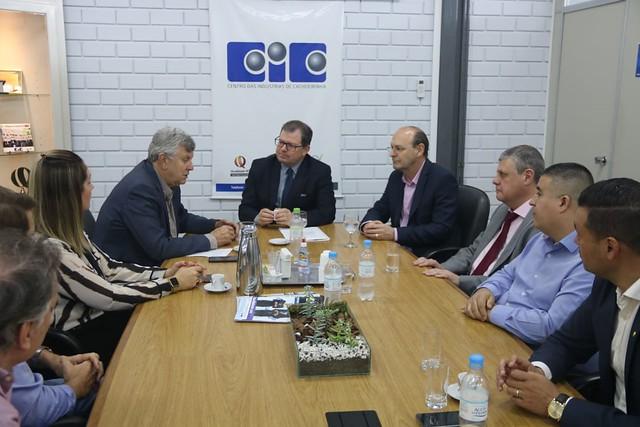 27/09/2019 Reunião com o Presidente CIC Cachoeirinha, Prefeito Miki Breier, empresários e Nerisson Oliveira