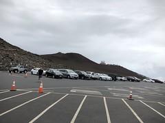 Upper visitor center parking lot