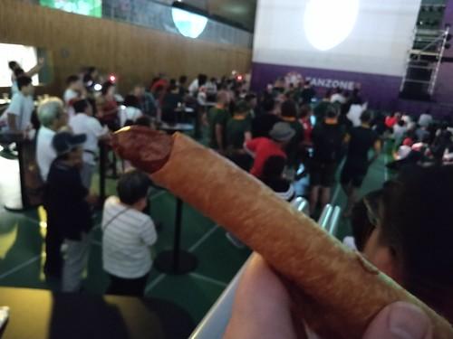 wrapped smoked sausage