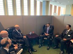 Συνάντηση ΥΠΕΞ Ν. Δένδια με τον ΥΠΕΞ & τον Υπ. Επικρατείας των ΗΑΕ στο περιθώριο ΓΣ ΟΗΕ στη ΝY (Ν. Υόρκη, 27.09.2019)