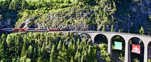 Swiss trains and bridges