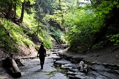 Trekking on river trail to Eternal Flame Trail