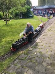 Toy train with a German steam locomotive in Emden, Germany