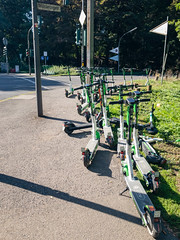 Lime electric scooters in Cologne, Germany