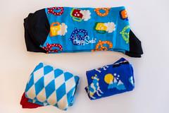 Bavarian Happy Socks top view in blue