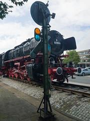 Class 43 German steam locomotive in Emden, Germany