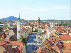 Görlitz 2019 - Obermarkt mit Blick auf die Landeskrone
