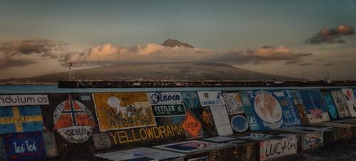 Mount Pico seen from Horta