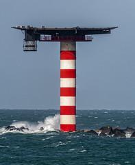 Vertical panorama photo - Lichtbaken Noorderpier - Port of Rotterdam