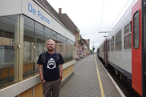 Craig at De Panne station.