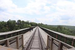 The trial & rail path on Kinzua Bridge