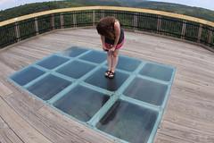 Marlena on the glass floor deck