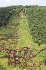 The damage view of Kinzua Bridge
