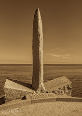 World War II Pointe du Hoc Ranger Monument - Photo of Saint-Germain-du-Pert