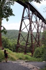 Taking a picture of Kinzua Bridge