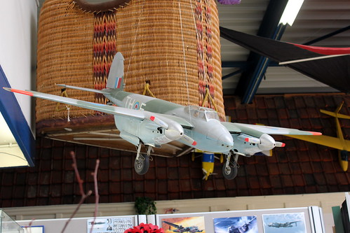 Model plane hanging from the ceiling