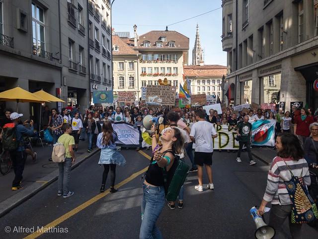 Klimademo Bern