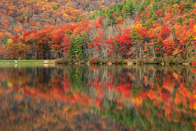 Photo:Autumn Reflections - Sherando Lake By Bold Frontiers
