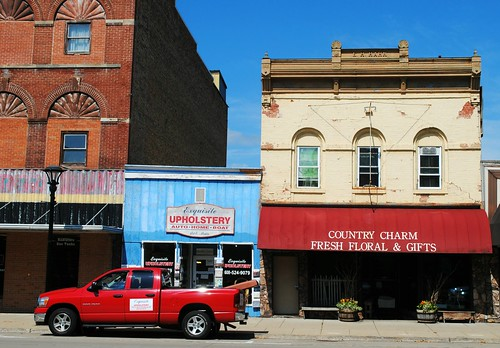 Downtown Reedsburg, Wisconsin businesses.