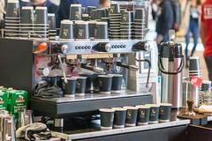 Kaffeestand der Münchner Kaffee Rösterei auf der Gründermesse in München