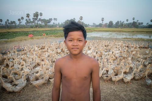 Duck Boy, Siem Reap Cambodia (horizontal)