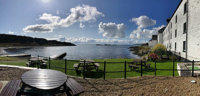 Laphroaig Distillery Visitors Center on a Beautiful September Day!