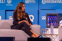 Entrepreneur Jessica Alba auf der Tech-Konferenzt Bits & Pretzels auf dem Oktoberfest