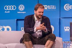 Mathias Meiner von Lilium auf der Bits&Pretzels Bühne