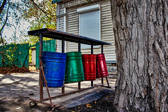 Litter bins of different colors?