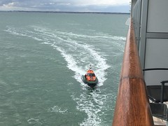 Pilot boat comes alongside
