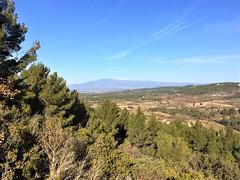 Vue depuis les contreforts des Monts de Vaucluse à Velleron
