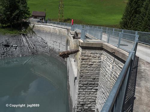 RAB150 Egschi Dam Bridge over the Rabiusa River, Versam, Canton of Grisons, Switzerland