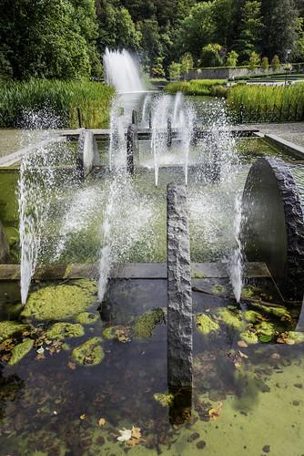Jet d'eau à Durbuy Belgique