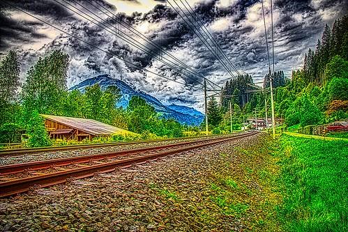 Railway tracks at Kirchberg