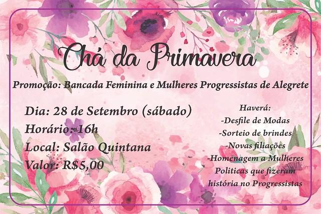 28/09/2019 Chá da Primavera da Ação Mulher Progressista (AMP) Alegrete