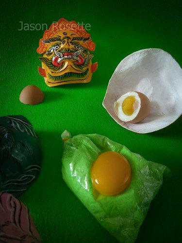 Green Still Life with Egg and Mask (#1)
