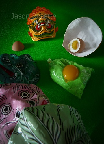 Green Still Life with Egg and Masks (#2)